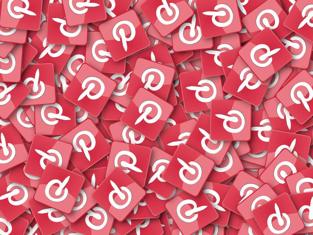 A large number of red and white Pinterest logos